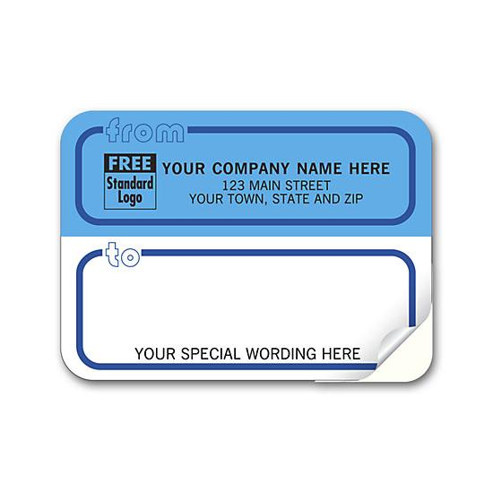 [Image: Shipping Label - Return Address Label Padded, White & Blue]