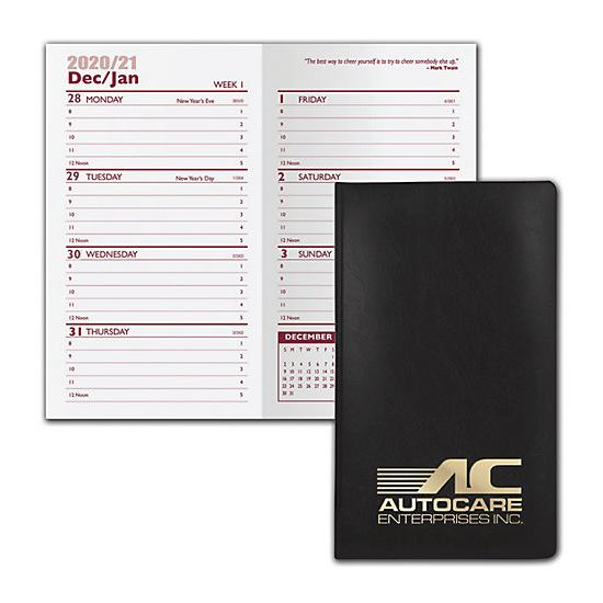 [Image: 2021 Castillion Vinyl Weekly Planner, Custom Printed, Personalized]