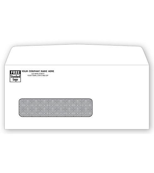 [Image: Single Window Confidential Envelope - White wove stock]
