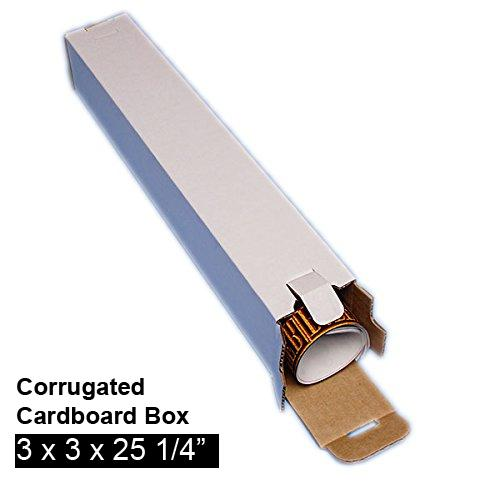 [Image: Five Panel Folding Tube Corrugated Cardboard Mailing Box 3 x 3 x 25]