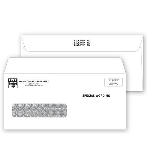 [Image: Single Window Confidential Envelope - Back Printing]