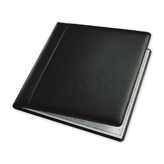 [Image: 3-On-A-Page Leather Cover, Executive Deskbook Checks]