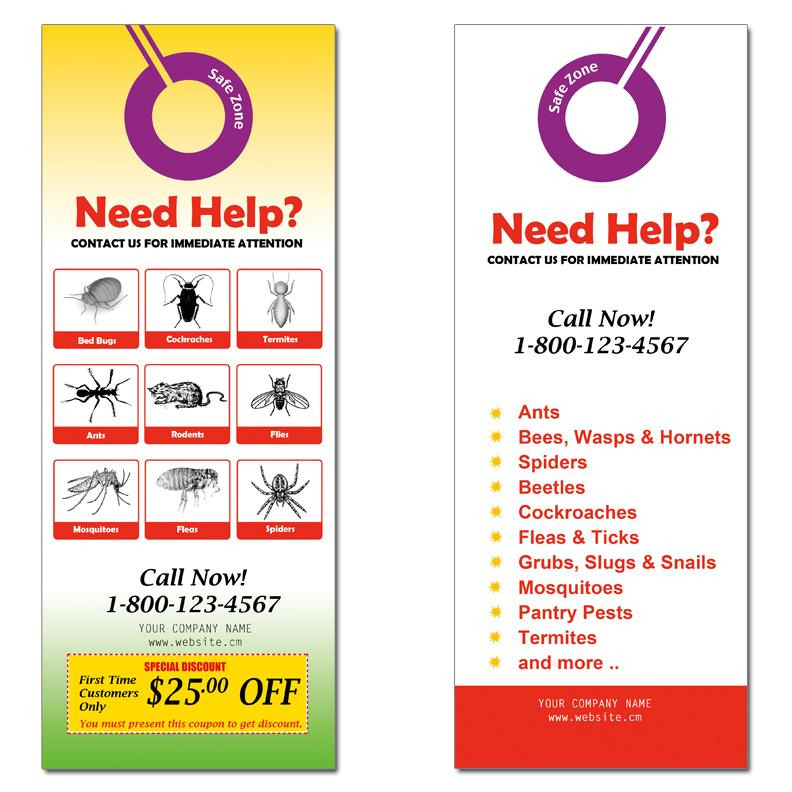 [Image:  Promotional Door Hangers for Pest Control]