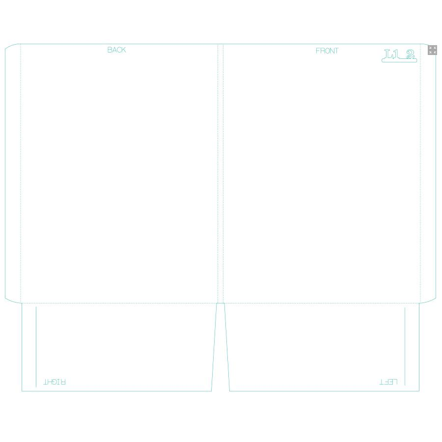 "[Image: Presentation Folders - 9.5"" x 12.5"" - Two Pockets With Reinforced Edge]"