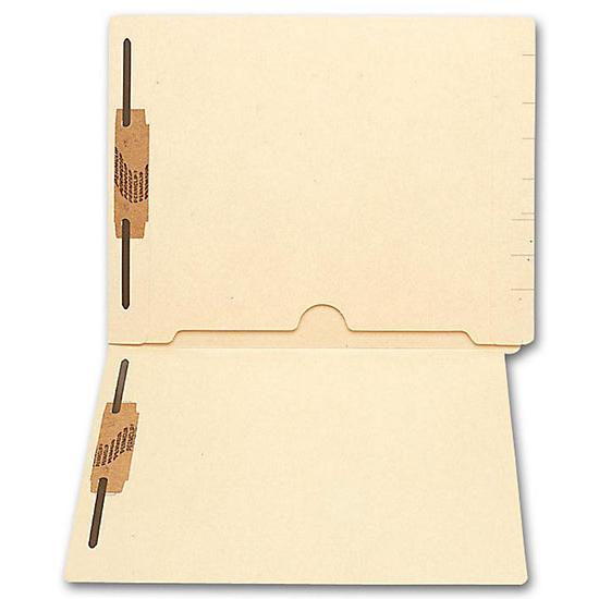 [Image: End Tab Full Pocket Manila Folder, 11 Pt, Two Fastener]
