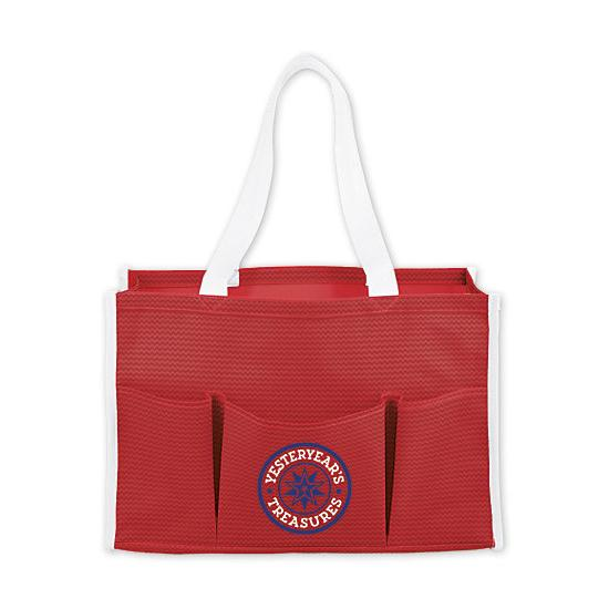 [Image: Chevron Multi-Purpose Tote Bag - Personalized]