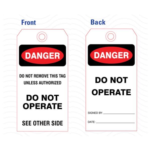 [Image: Safety Danger Tags]