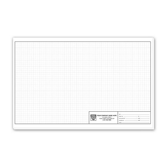 "[Image: Graph Paper - Standard 1/4"" Large Padded 11"" x 17"" Custom Printed]"