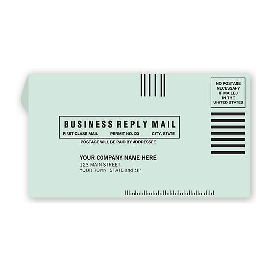 [Image: #6 3/4 Business Reply Envelope]