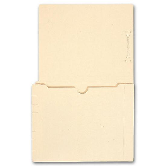 [Image: End Tab Full Pocket Manila Folder, 11 Pt, No Fastener]