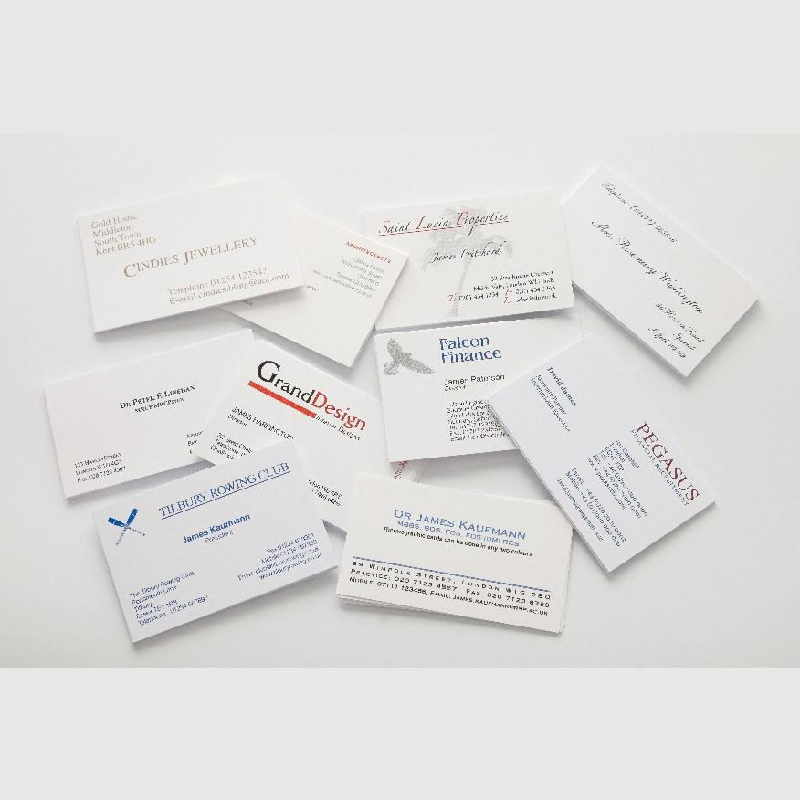 [Image: Raised Print Business Cards]