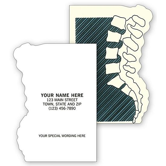 [Image: Chiropractic Appointment Or Business Cards, Die Cut, Backbone]