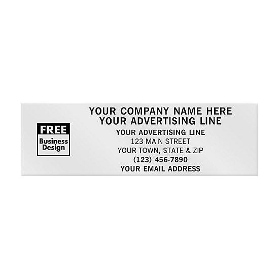 [Image: Rectangular Paper Label 3 1/4 X 1 - Custom Printed]