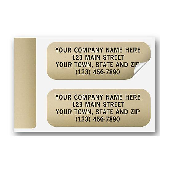 [Image: Gold Foil Paper Label]