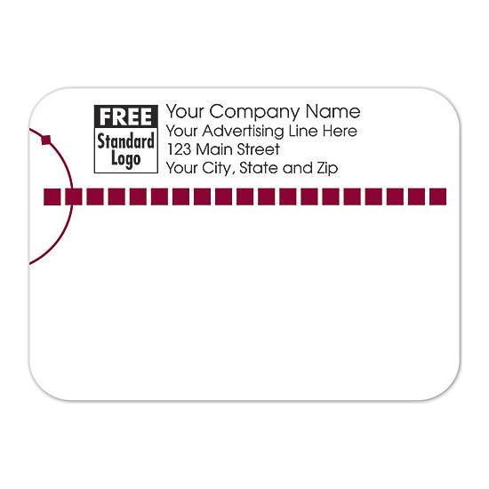 [Image: Shipping Label - Return Address Label White & Red]