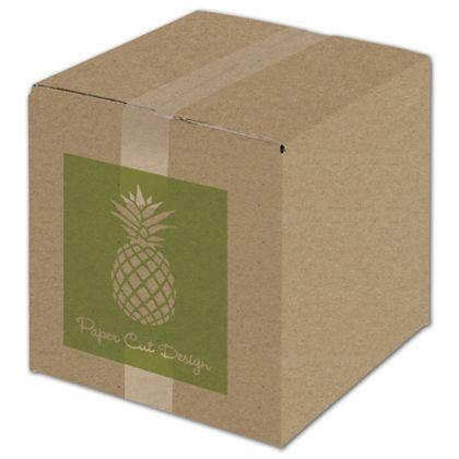 "[Image: Custom Printed Corrugated Boxes, Kraft, 10 x 10 x 10""]"