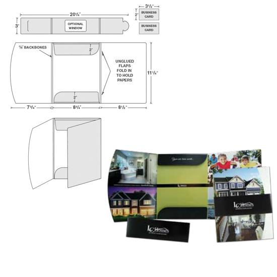 [Image: Tri-Panel Presentation Folder, Belly Band Folder Package]
