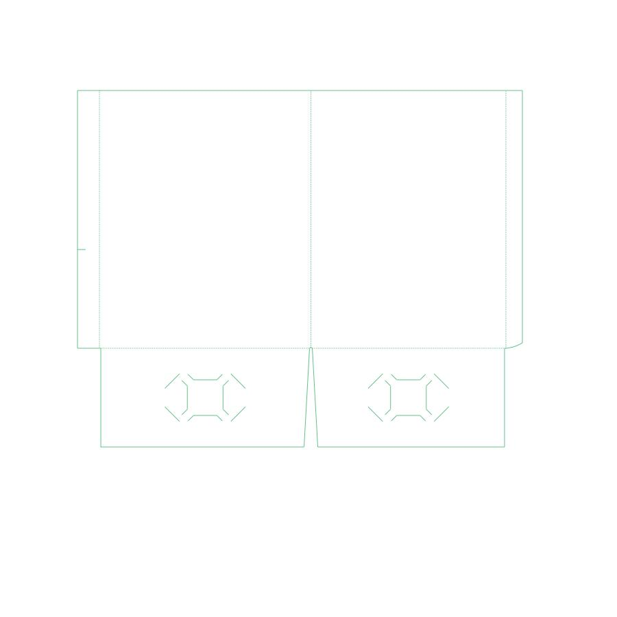 "[Image: Presentation Folders - 9.625"" x 11.75"" - Two Pockets With Reinforced Edge]"