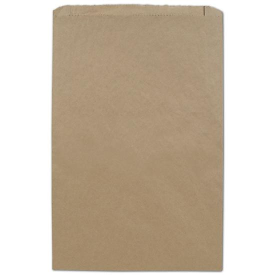 "[Image: Large Kraft Paper Merchandise Bag, 14 X 3 X 21"", Flat Brown Retail Bags]"
