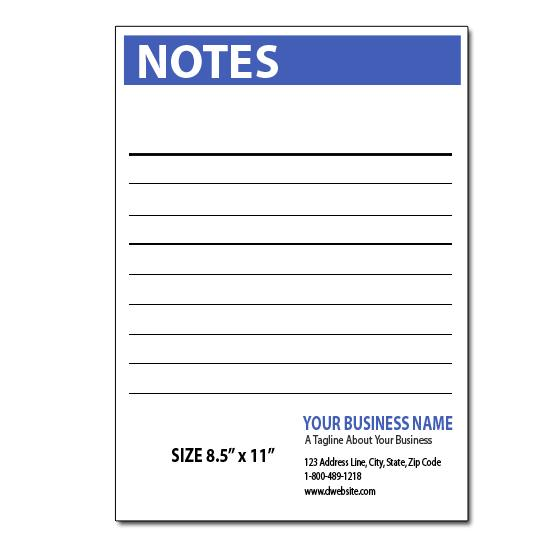 [Image: Custom Notepads - 8.5 x 11 Notepads]