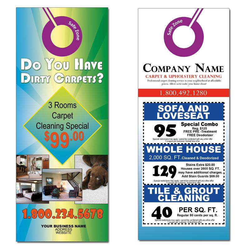 Carpet Cleaning Door Hangers Advertising