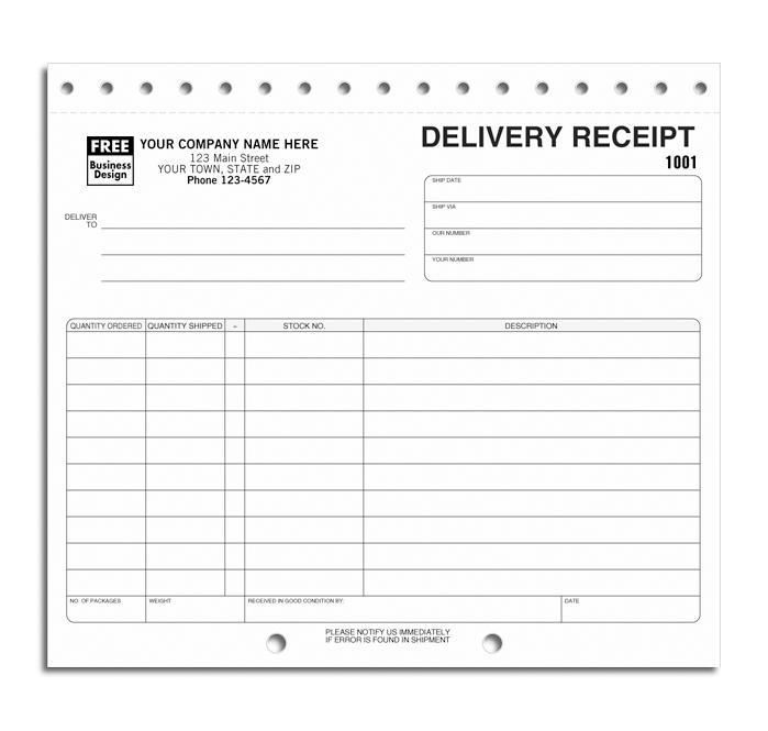 [Image: Delivery Receipts Sets]
