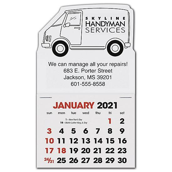[Image: 2021 Stick Up Calendar Van, Personalized & Custom printed]