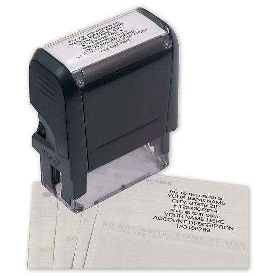 [Image: Endorsement Stamp - Self-Inking, Popular Layout]