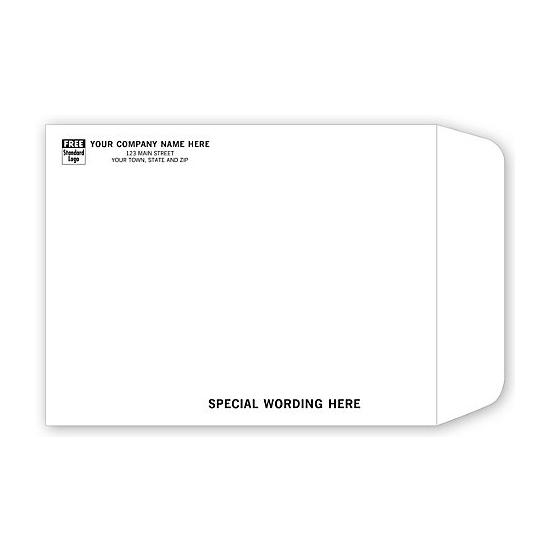 "[Image: Tyvek Mailing Envelope with Return Address Printed, 10 x 13""]"
