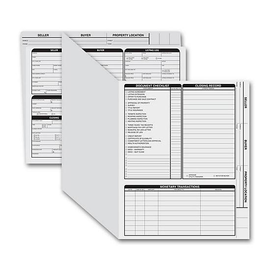 [Image: Real Estate Folder, Right Panel List, Letter Size, Gray]