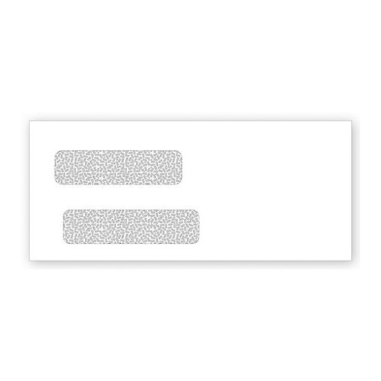 [Image: Double Window Confidential Self Seal Envelope 4 1/8 X 9 1/2]