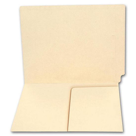 [Image: End Tab Half Pocket Manila Folder, 14 Pt, No Fastener]