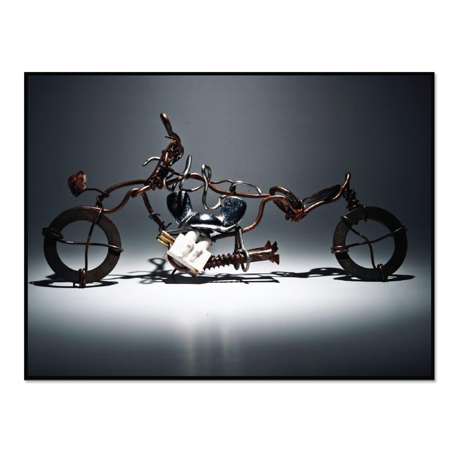 [Image: Wall Poster - Creative Metal Art Motorcycle]