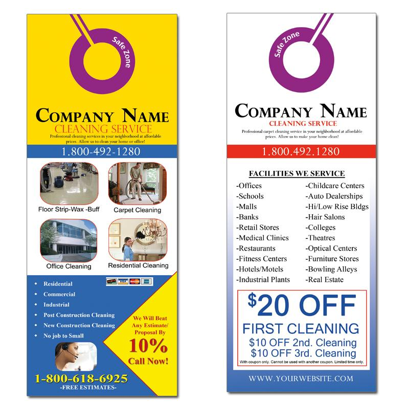 Door Hanger  Custom Door Hangers Designs Templates Samples
