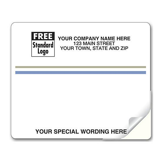 [Image: Laser Blue And Gray Stripe Mailing Label]