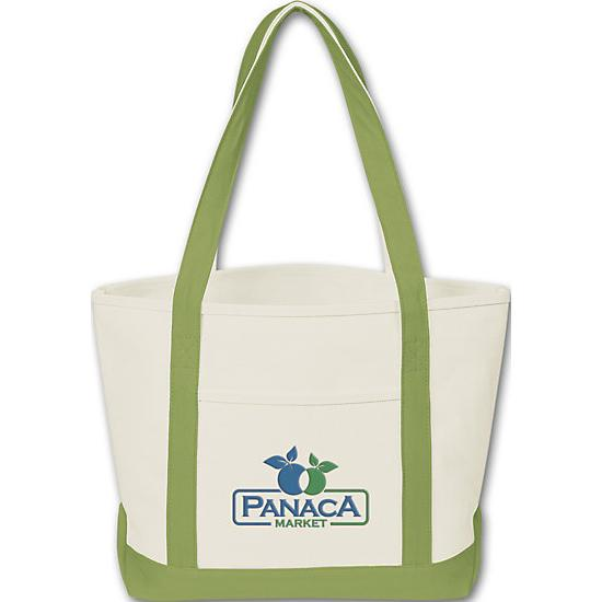[Image: Canvas Tote Boat - Custom Printed]