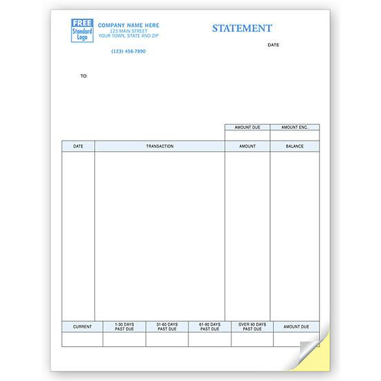 [Image: Account Statement Form, Laser and Inkjet Compatible, Personalized]
