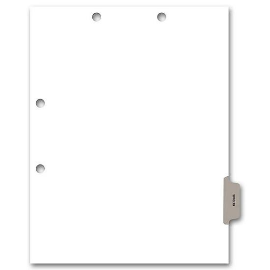 [Image: Side Tab Chart File Divider, Surgery Tab]