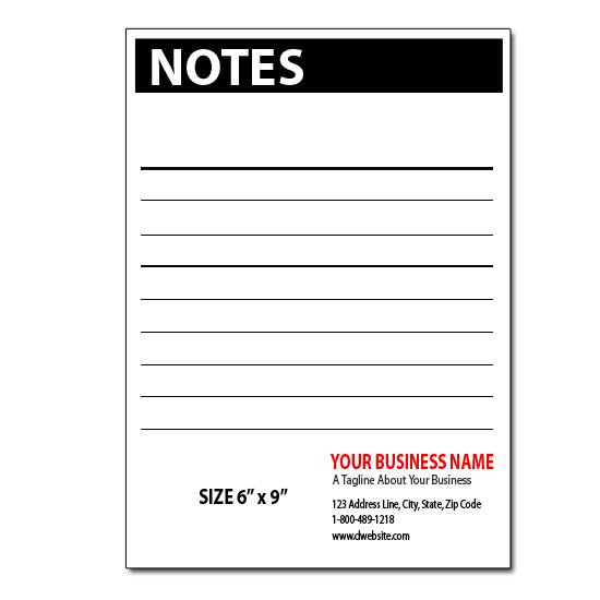 [Image: Custom Notepads - 5.5 x 8.5 Notepads]