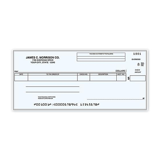 [Image: Cash Disbursement One Write Check - Personalized & Printed]