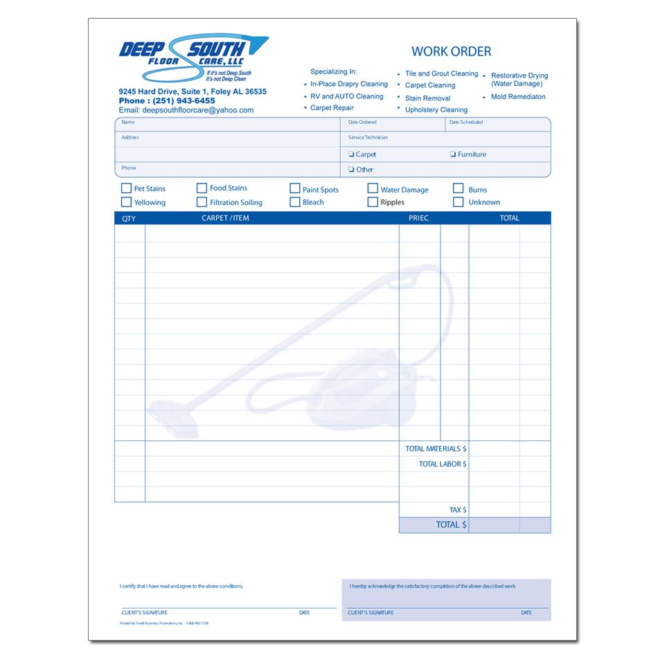 work performed invoice template