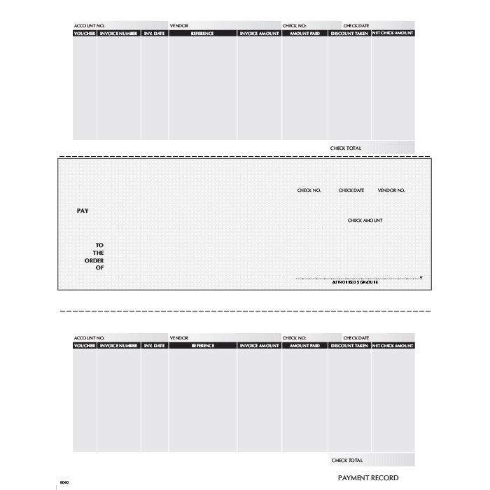 [Image: F8040 - Laser Accounts Payable Check]