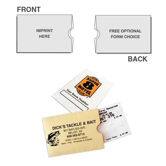 "[Image: Custom Card Holder - Sleeve Format, License or Gift Card, 2 1/2"" x 3 1/2"", Personalized with Logo, Sturdy Paper]"