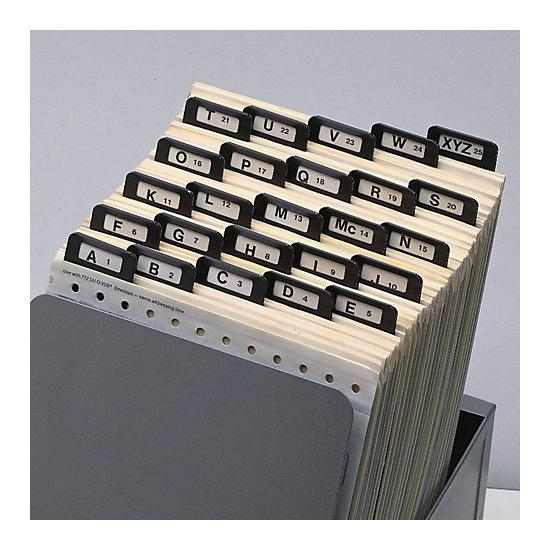 [Image: A-Z Index Guides, Metal Tabs -6.5 X 9 1/4]