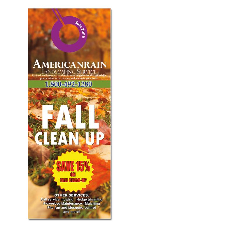 [Image: Landscaping Door Hanger - Fall Clean Up]