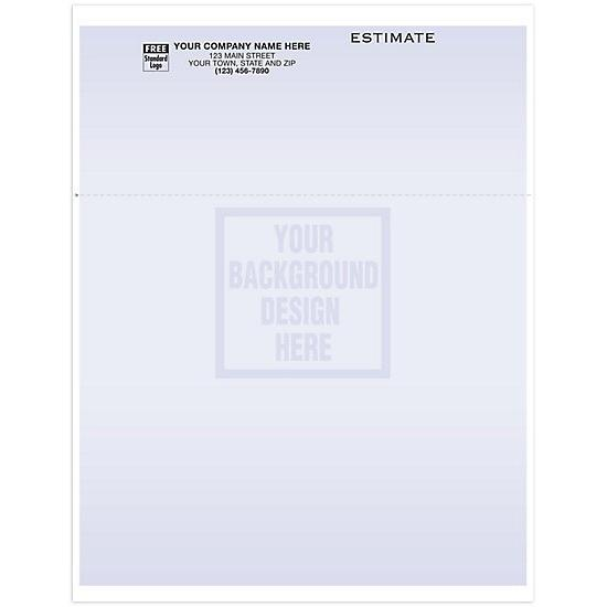 [Image: Blank Laser/Inkjet Multipurpose Estimate Form, Top Perforation, Personalized]