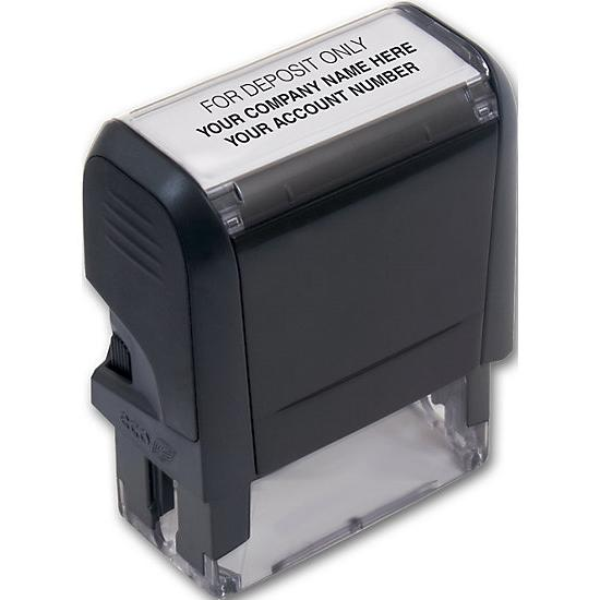 [Image: Endorsement Stamp - Self-Inking, Custom Layout]