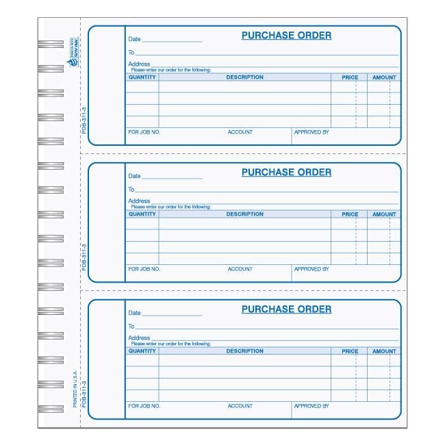[Image: Purchase Order Book ]