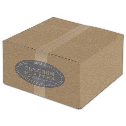 "[Image: Custom Printed Corrugated Boxes, Kraft, 12 x 12 x 6""]"