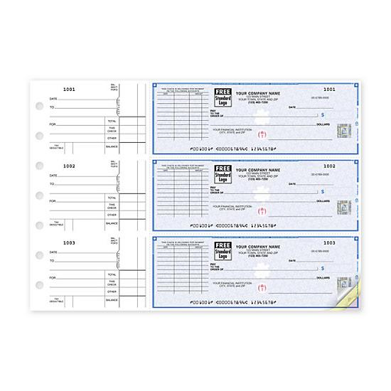 [Image: 3-On-A-Page Business Size Checks, With Choice Of Voucher 53225DS]